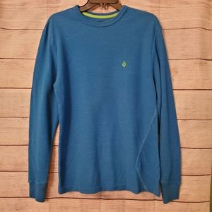 Volcom thermal shirt vibrant blue